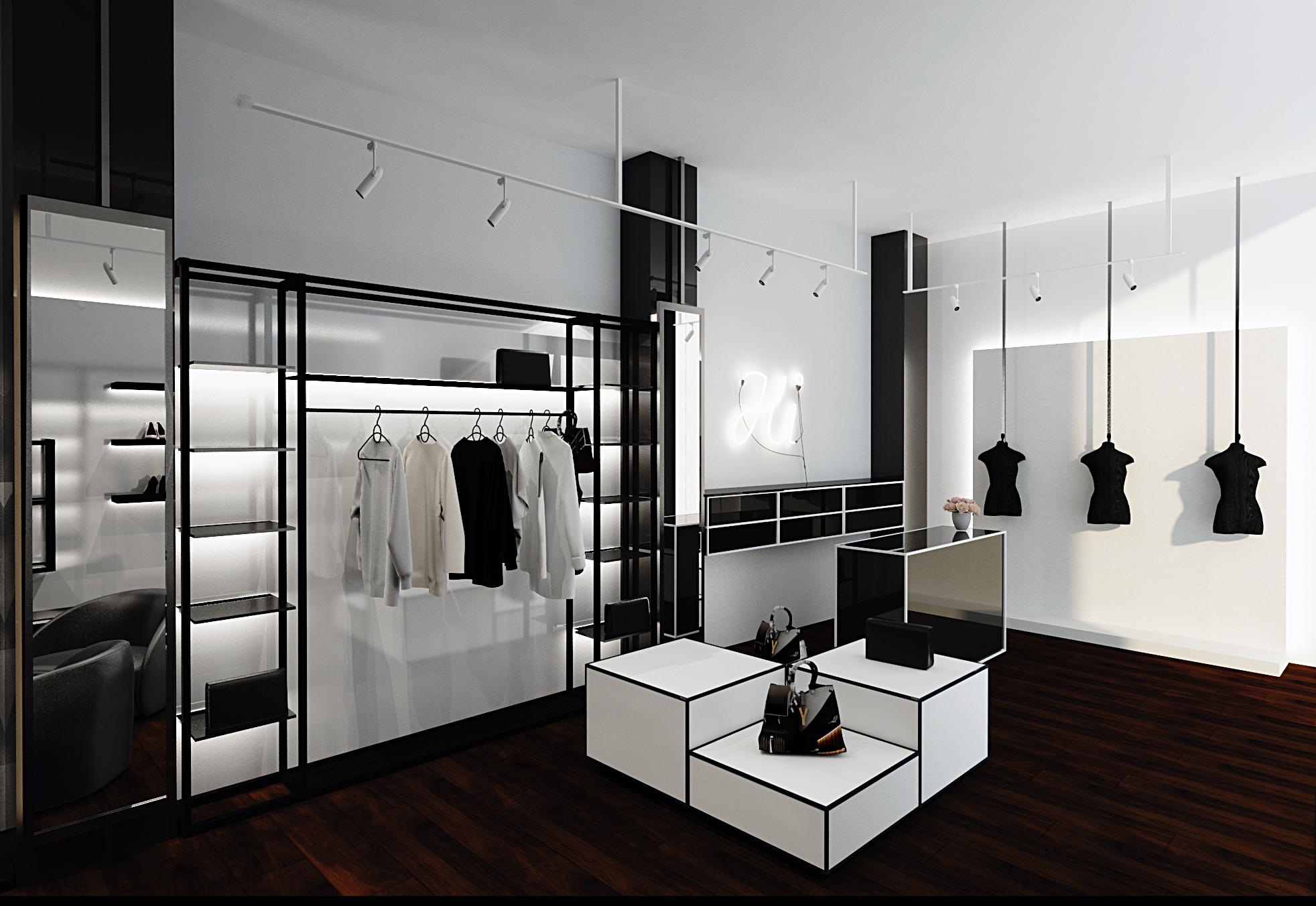 Десятая визуализация интерьера бутика, Киев. Profirem