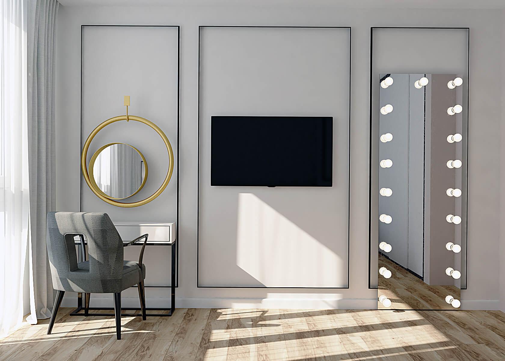 Визуализация одной из комнат на Демеевской, Киев, Profirem