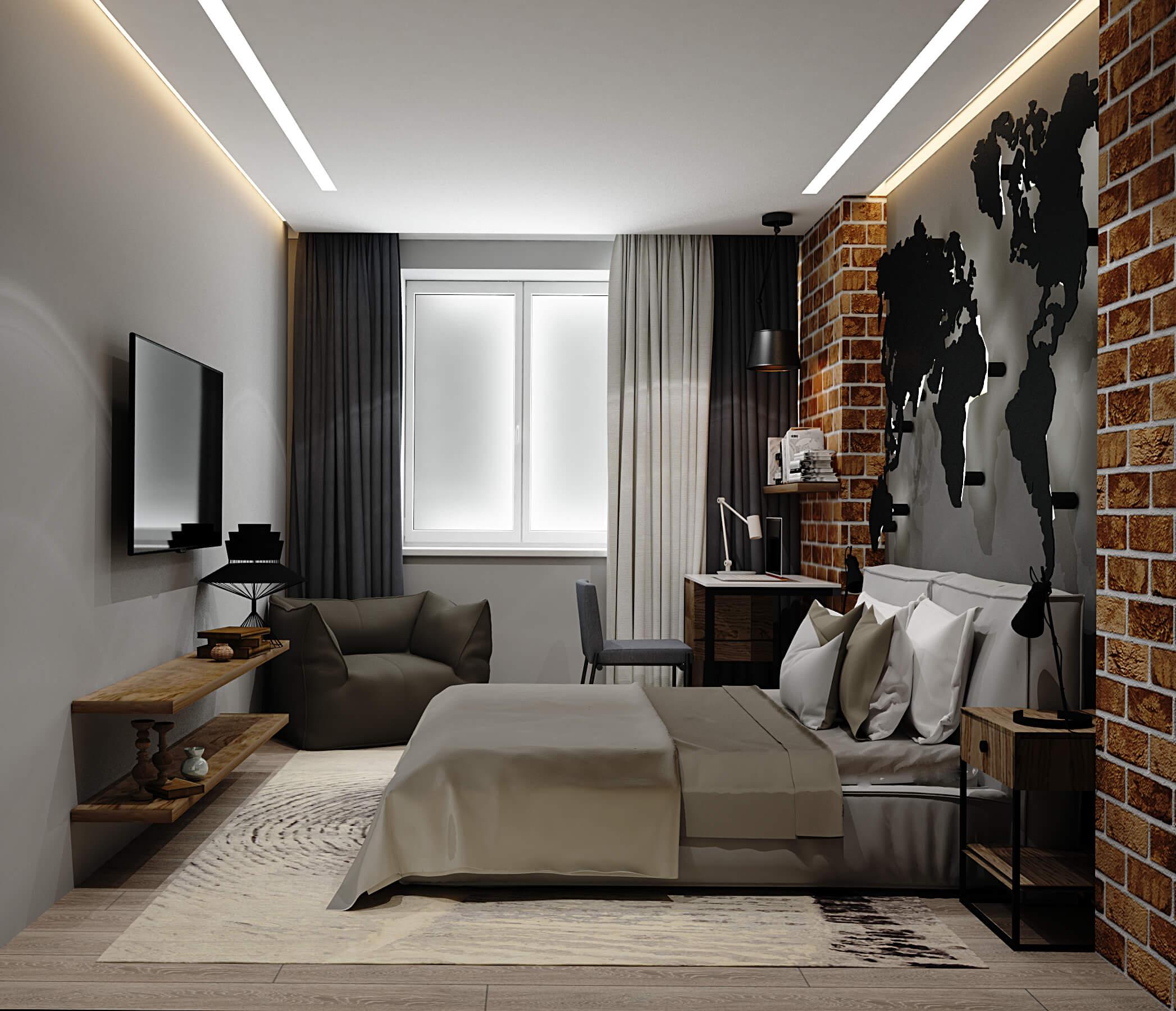 Вторая визуализация спальни в ЖК Варшавский, Киев, Profirem