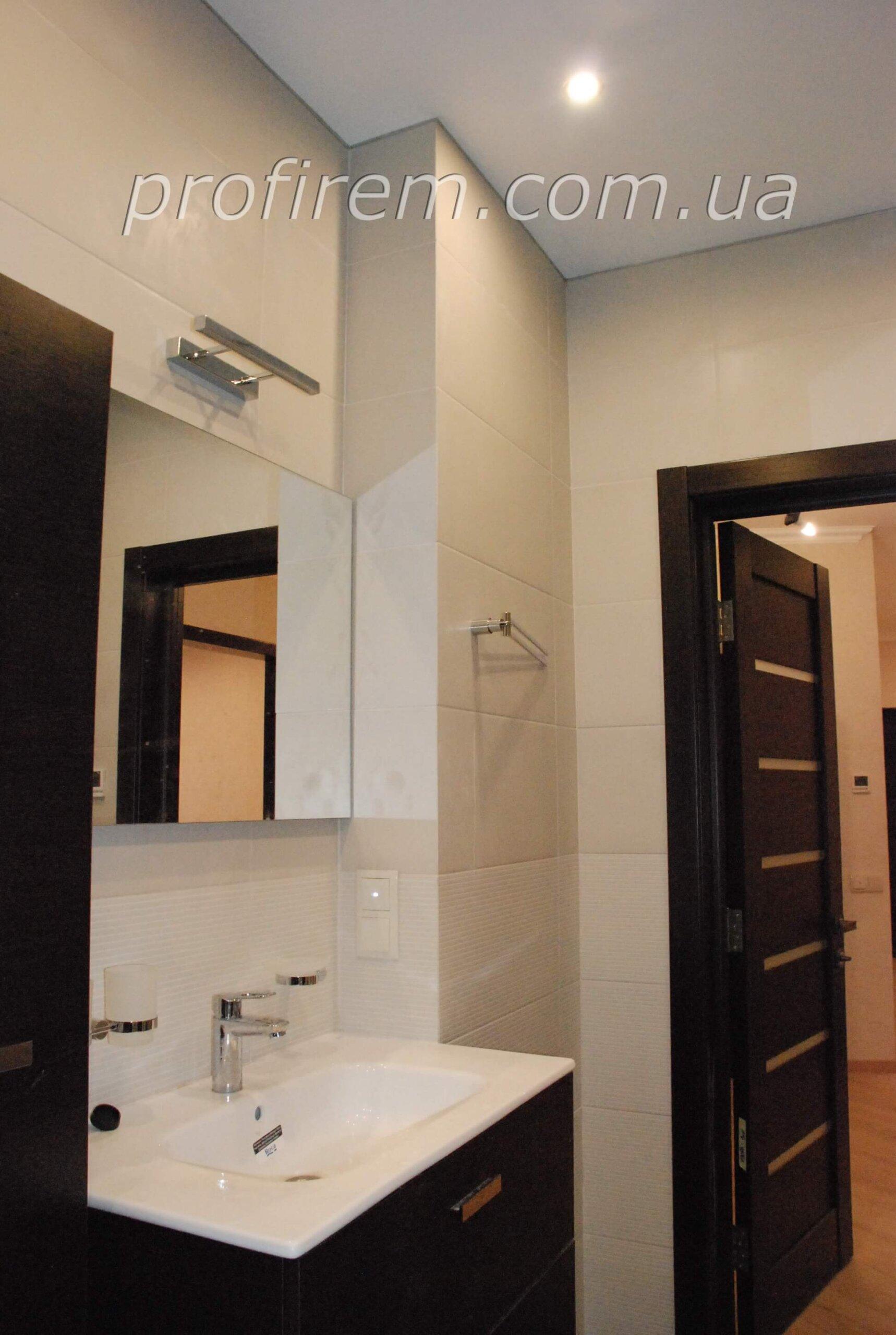 умывальник с зеркалом - ремонт ванной