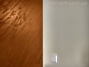 яркая декоративная штукатурка на стене