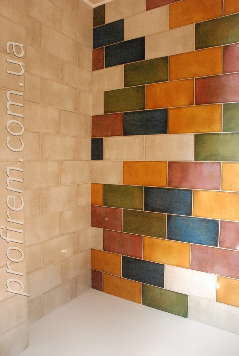 ванная - угол плитки