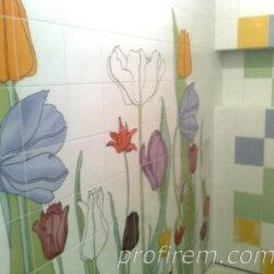 плитка с цветами