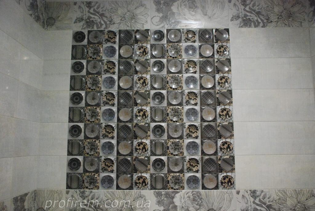 плитка в ванной - хрущевка в Соломенском районе Киева