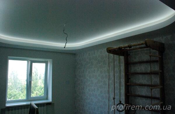 подсветка на потолке в детской