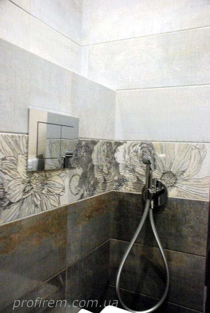 пространство возле унитаза и душ