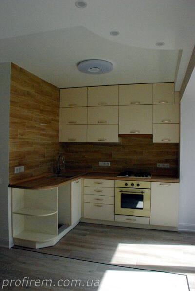 свежий ремонт на кухне на Русановской набережной